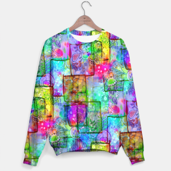 Rainbow Floral Doodle Sweater thumbnail image