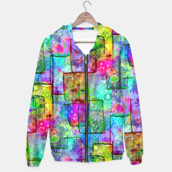 Rainbow Floral Doodle Hoodie thumbnail image