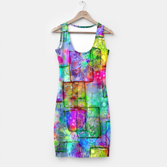 Rainbow Floral Doodle Simple Dress thumbnail image