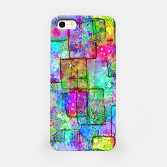 Rainbow Floral Doodle iPhone Case thumbnail image