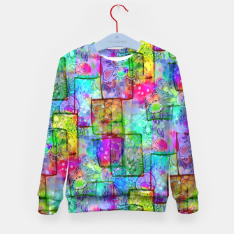 Rainbow Floral Doodle Kid's Sweater thumbnail image