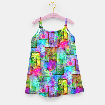Rainbow Floral Doodle Girl's Dress thumbnail image