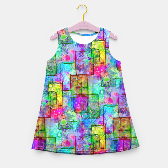 Rainbow Floral Doodle Girl's Summer Dress thumbnail image