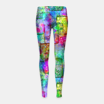 Rainbow Floral Doodle Girl's Leggings thumbnail image