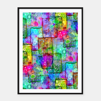Rainbow Floral Doodle Framed poster thumbnail image