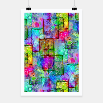 Rainbow Floral Doodle Poster thumbnail image