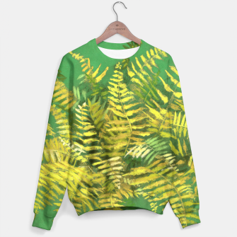 Golden Fern, green & yellow Sweater thumbnail image