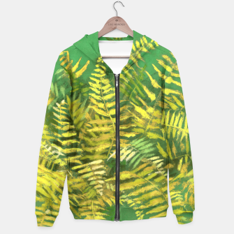 Golden Fern, green & yellow Hoodie thumbnail image