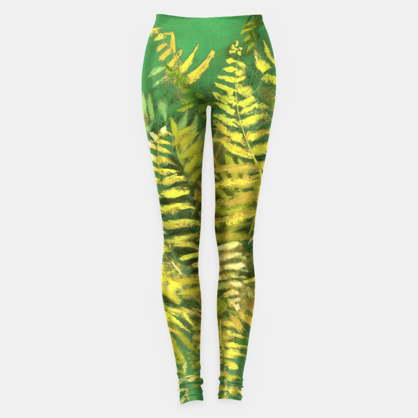Image of Golden Fern, green & yellow Leggings - Live Heroes