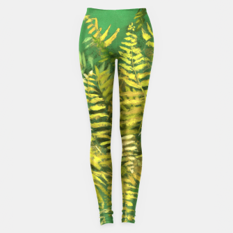 Thumbnail image of Golden Fern, green & yellow Leggings, Live Heroes