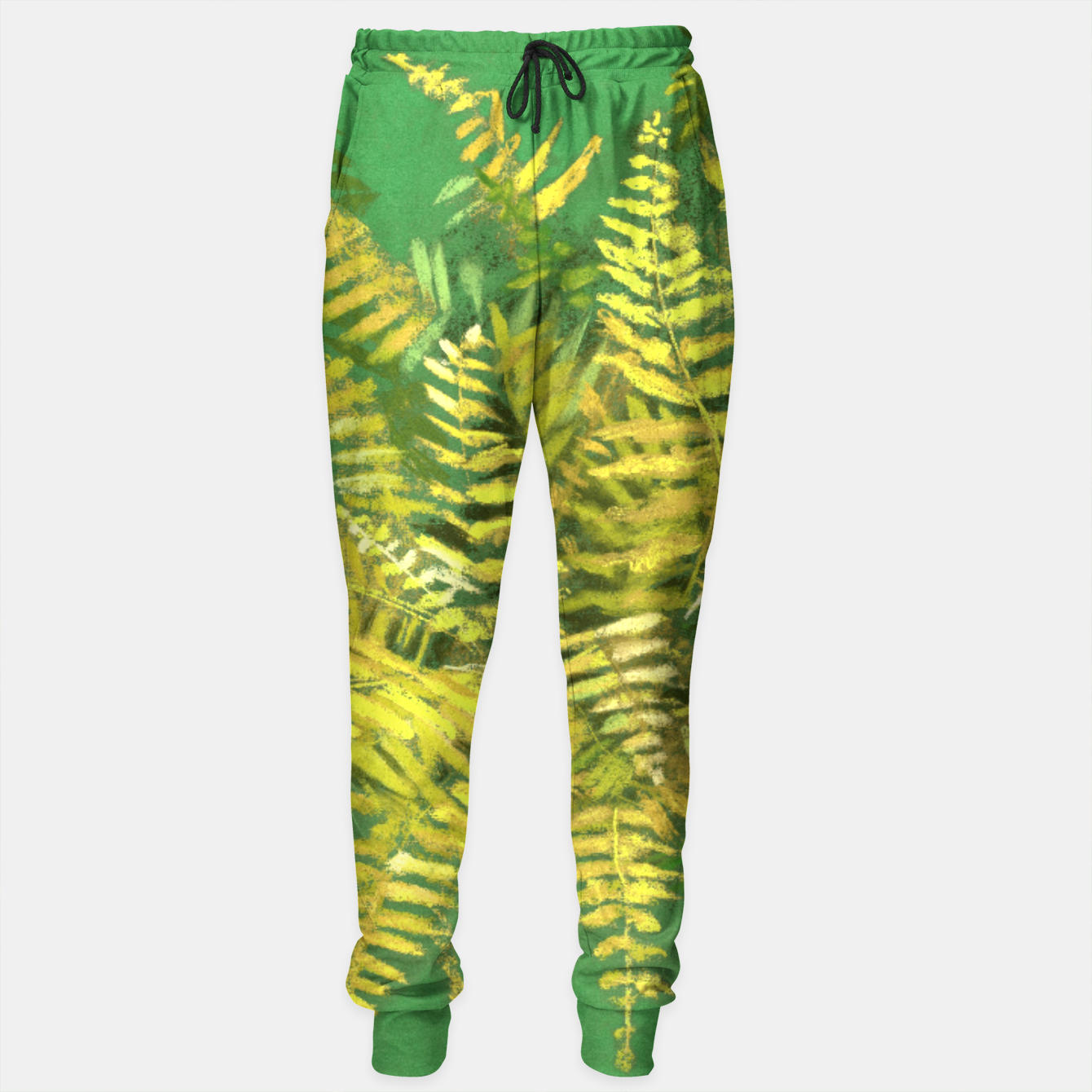 Image of Golden Fern, green & yellow Sweatpants - Live Heroes