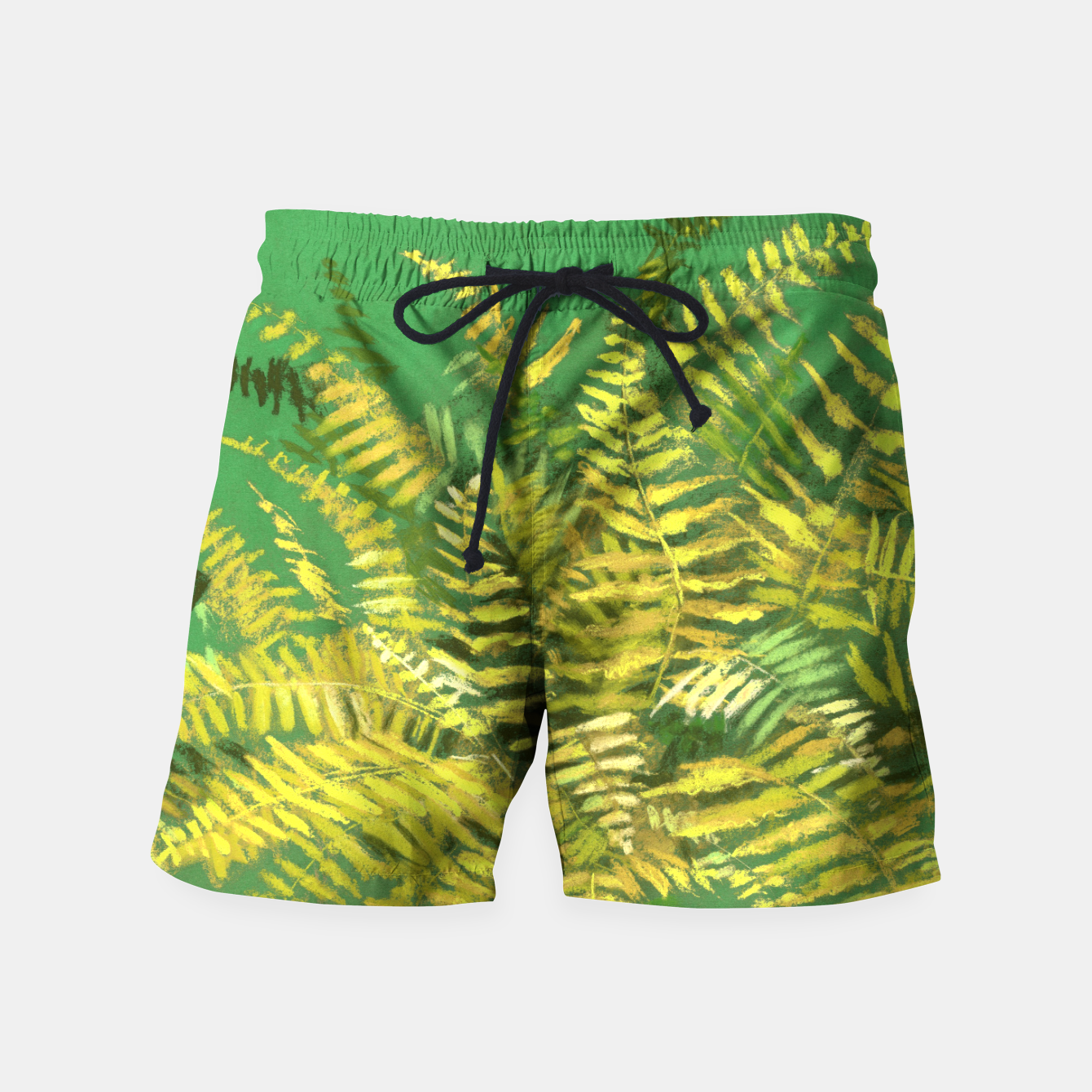 Image of Golden Fern, green & yellow Swim Shorts - Live Heroes