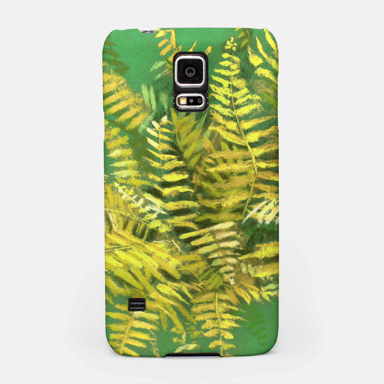 Image of Golden Fern, green & yellow Samsung Case - Live Heroes