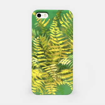 Golden Fern, green & yellow iPhone Case thumbnail image
