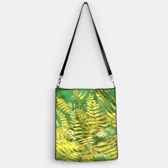 Golden Fern, green & yellow Handbag thumbnail image
