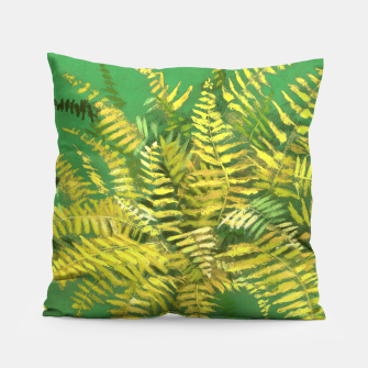 Golden Fern, green & yellow Pillow thumbnail image