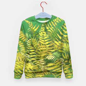 Thumbnail image of Golden Fern, green & yellow Kid's Sweater, Live Heroes