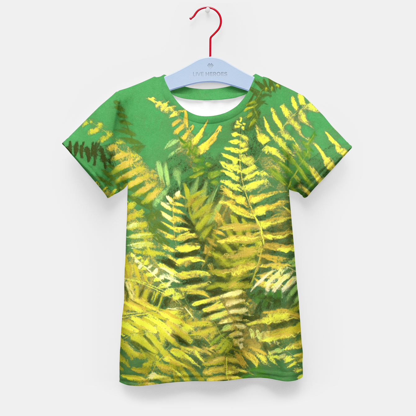 Image of Golden Fern, green & yellow Kid's T-shirt - Live Heroes