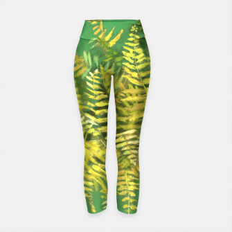 Golden Fern, green & yellow Yoga Pants thumbnail image