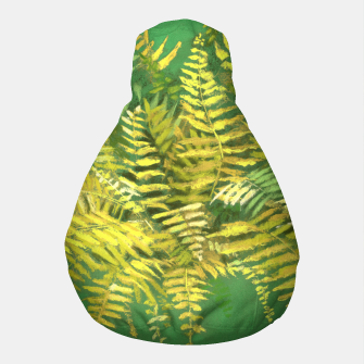 Golden Fern, green & yellow Pouf thumbnail image