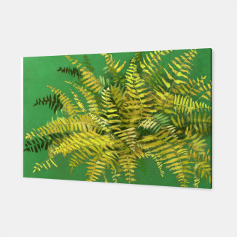Golden Fern, green & yellow Canvas thumbnail image