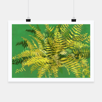 Golden Fern, green & yellow Poster thumbnail image