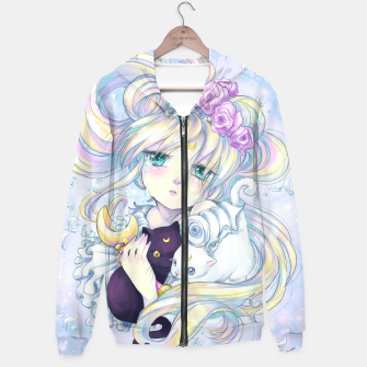 Thumbnail image of Moon Flower Hoodie, Live Heroes