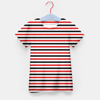 Miniatur Red and Black Stripes Kid's T-shirt, Live Heroes