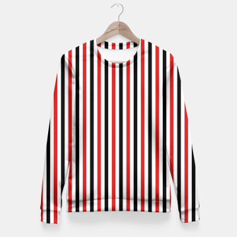 Miniatur Red and Black Stripes Fitted Waist Sweater, Live Heroes