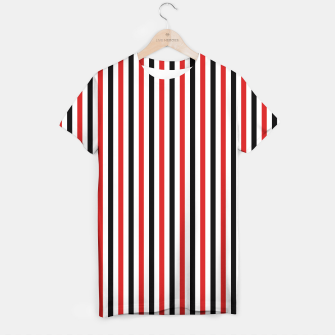 Miniatur Red and Black Stripes T-shirt, Live Heroes