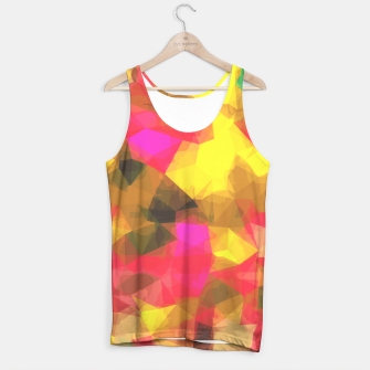 psychedelic geometric polygon shape pattern abstract in pink yellow green Tank Top Bild der Miniatur