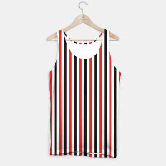 Miniatur Red and Black Stripes Tank Top, Live Heroes