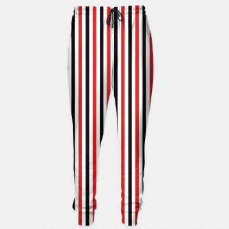 Miniatur Red and Black Stripes Sweatpants, Live Heroes