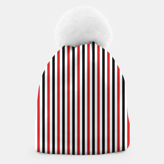 Miniatur Red and Black Stripes Beanie, Live Heroes