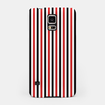 Miniatur Red and Black Stripes Samsung Case, Live Heroes