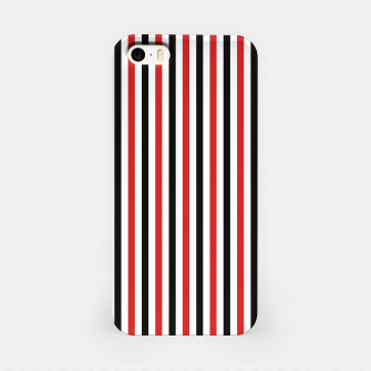 Miniatur Red and Black Stripes iPhone Case, Live Heroes