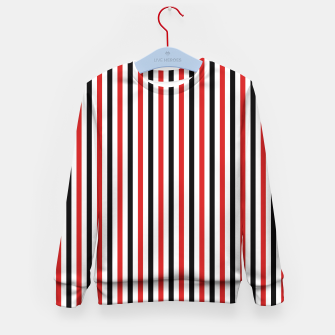 Miniatur Red and Black Stripes Kid's Sweater, Live Heroes
