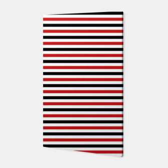 Miniatur Red and Black Stripes Canvas, Live Heroes