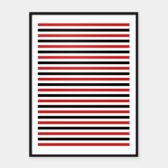 Miniatur Red and Black Stripes Framed poster, Live Heroes