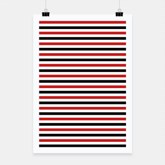 Miniatur Red and Black Stripes Poster, Live Heroes