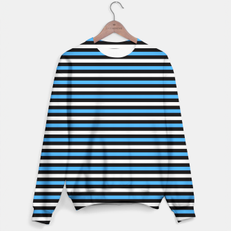 Miniatur Black and Blue Stripes Sweater, Live Heroes