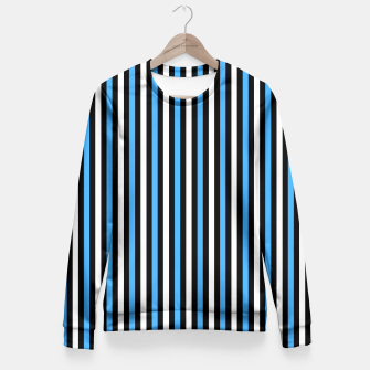 Miniatur Black and Blue Stripes Fitted Waist Sweater, Live Heroes