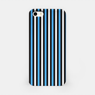 Miniatur Black and Blue Stripes iPhone Case, Live Heroes