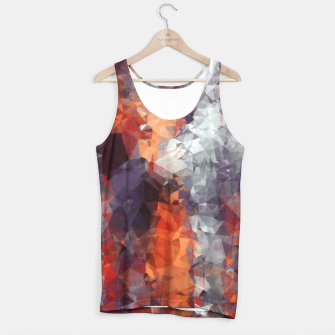 psychedelic geometric polygon shape pattern abstract in orange brown red black Tank Top Bild der Miniatur
