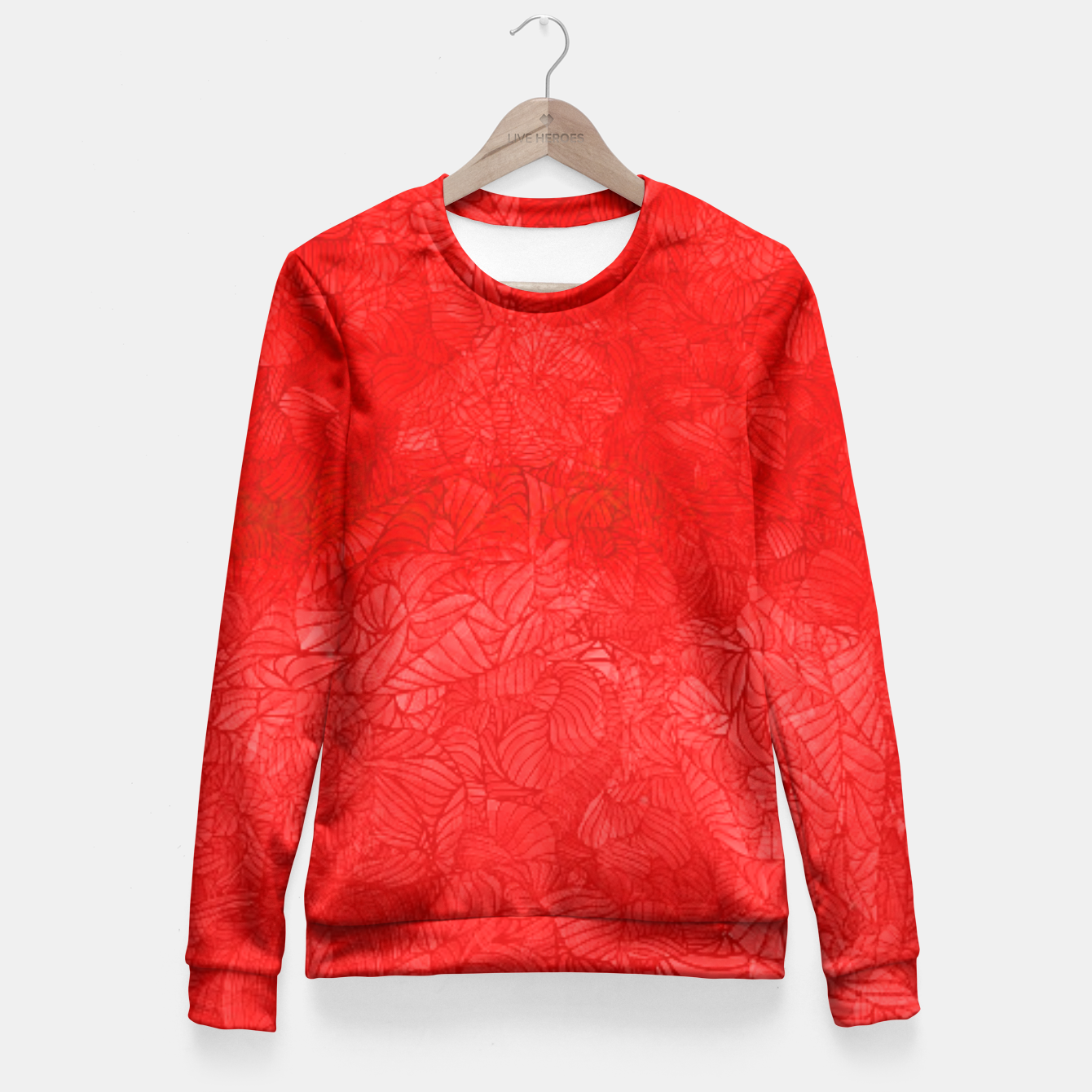 Image of red Fitted Waist Sweater - Live Heroes