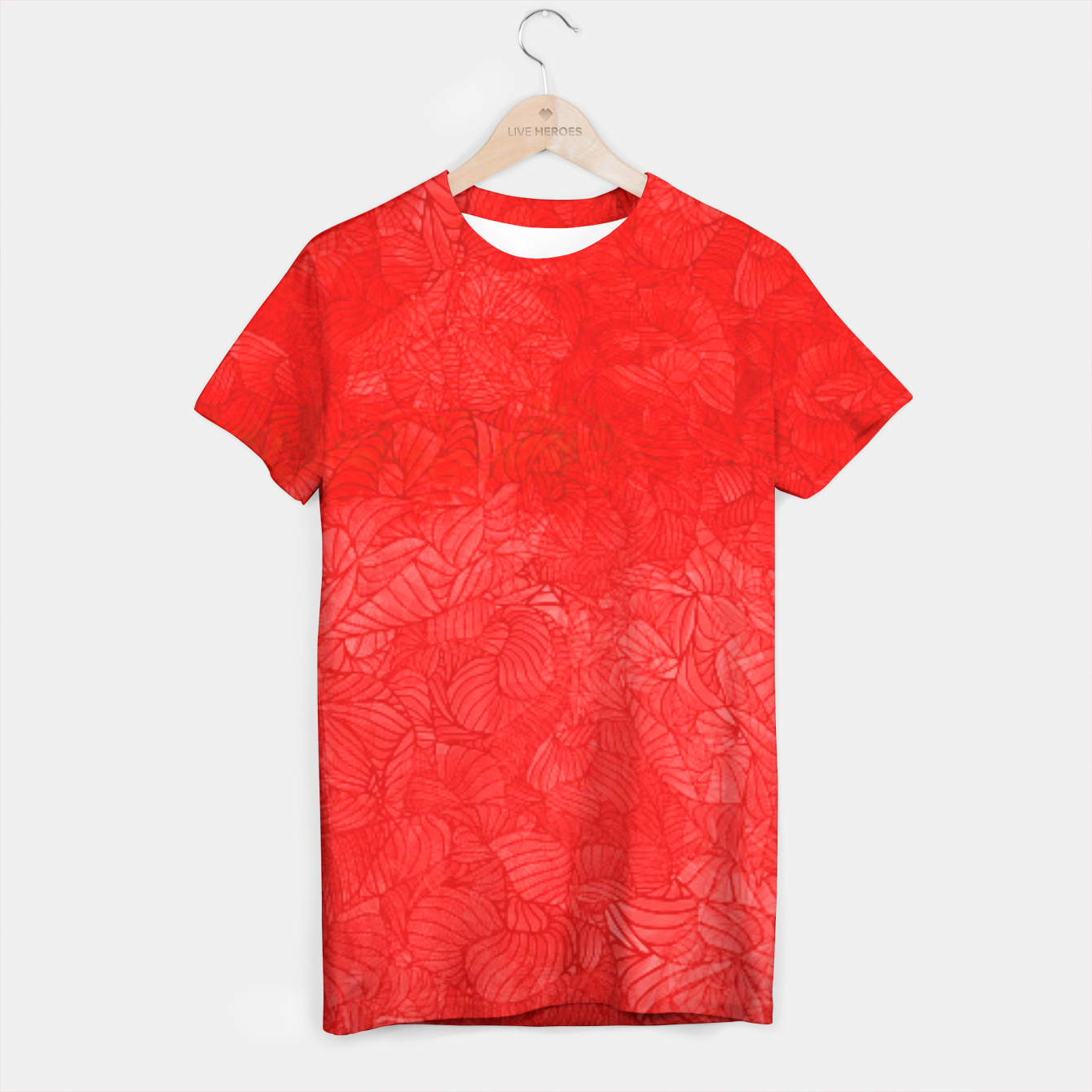 Image of red T-shirt - Live Heroes