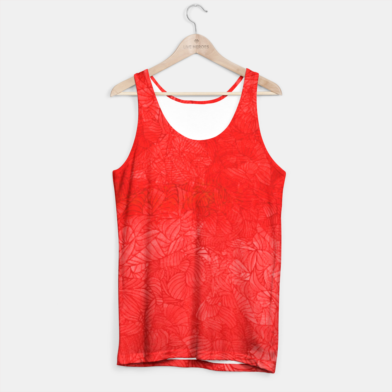 Image of red Tank Top - Live Heroes