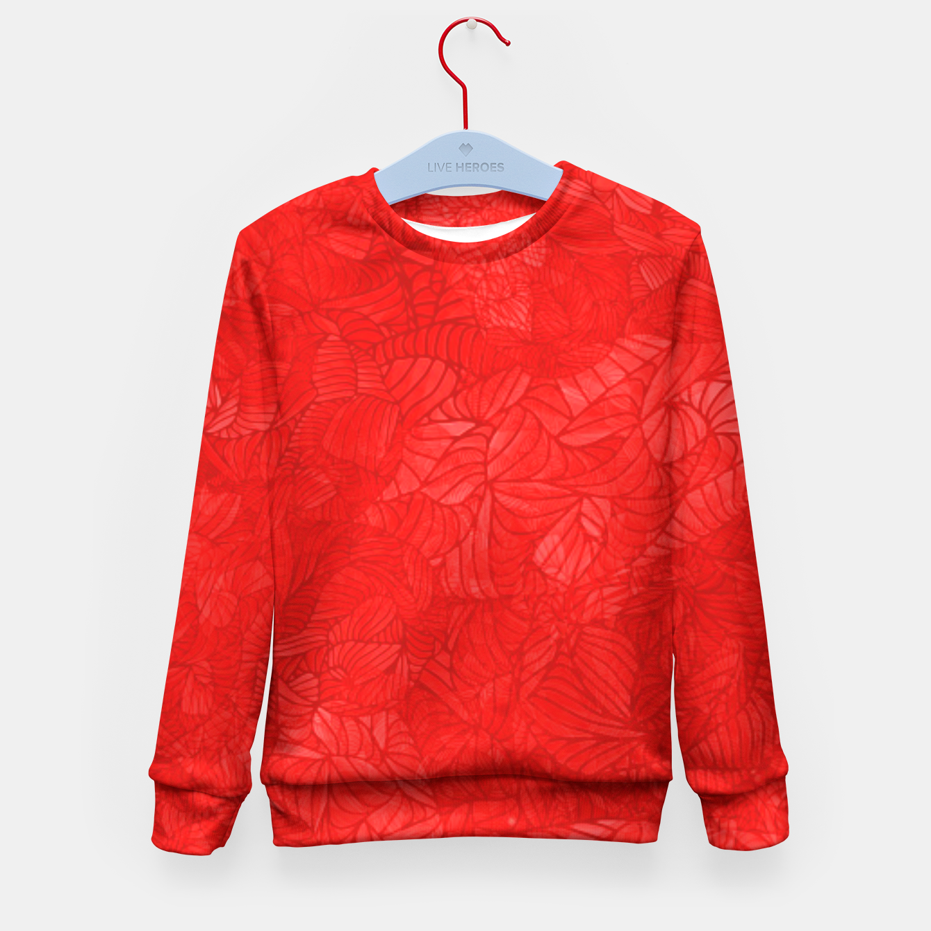 Image of red Kid's Sweater - Live Heroes