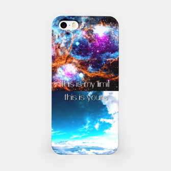 This is my limit this is yours iPhone Case obraz miniatury