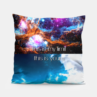 This is my limit this is yours Pillow obraz miniatury